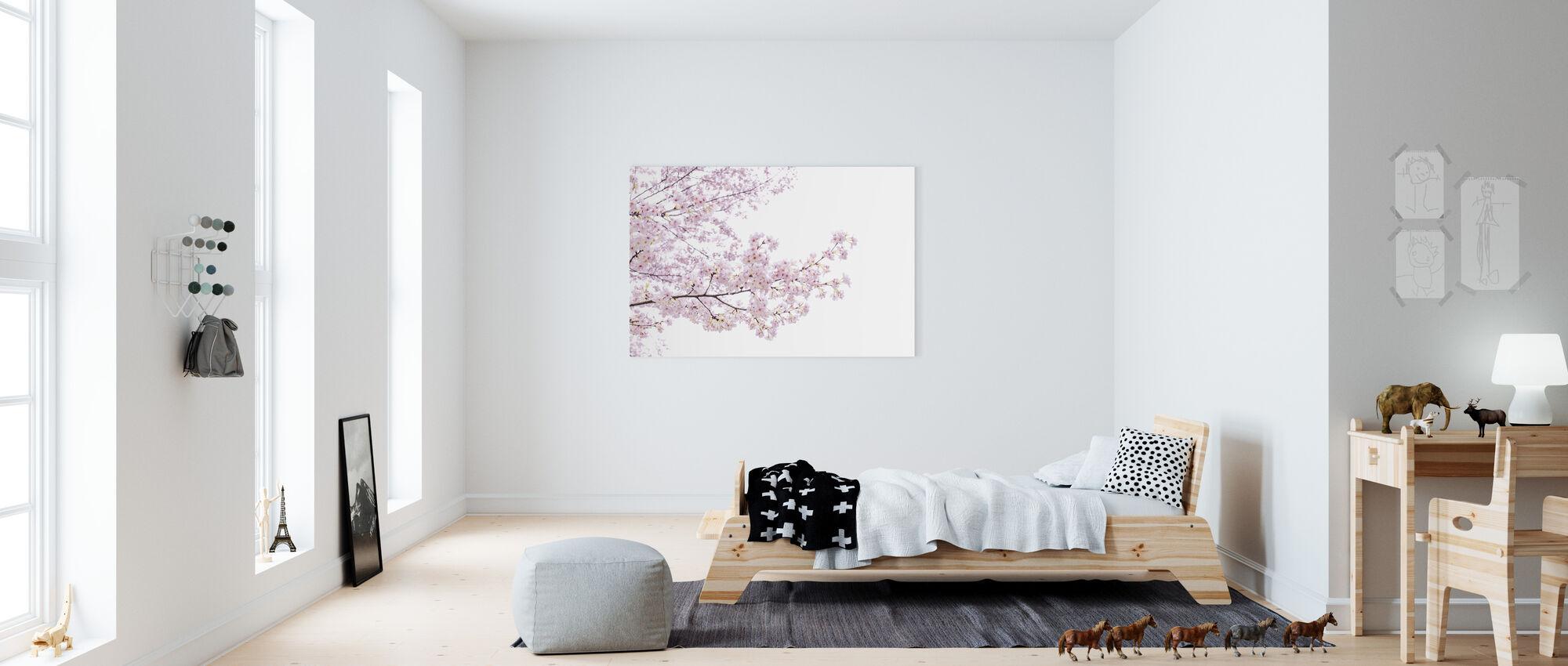 divine cherry blossoms impression sur toile en ligne pas cher photowall. Black Bedroom Furniture Sets. Home Design Ideas