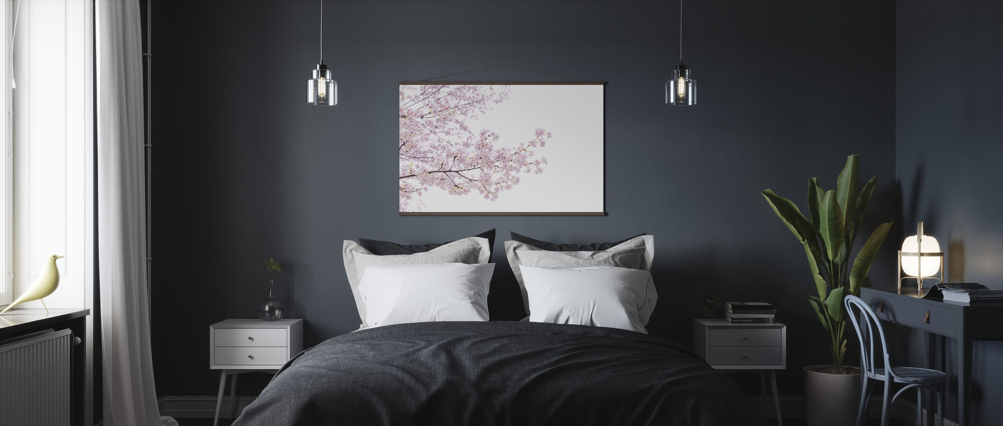 Divine Cherry Blossoms - Poster - Bedroom