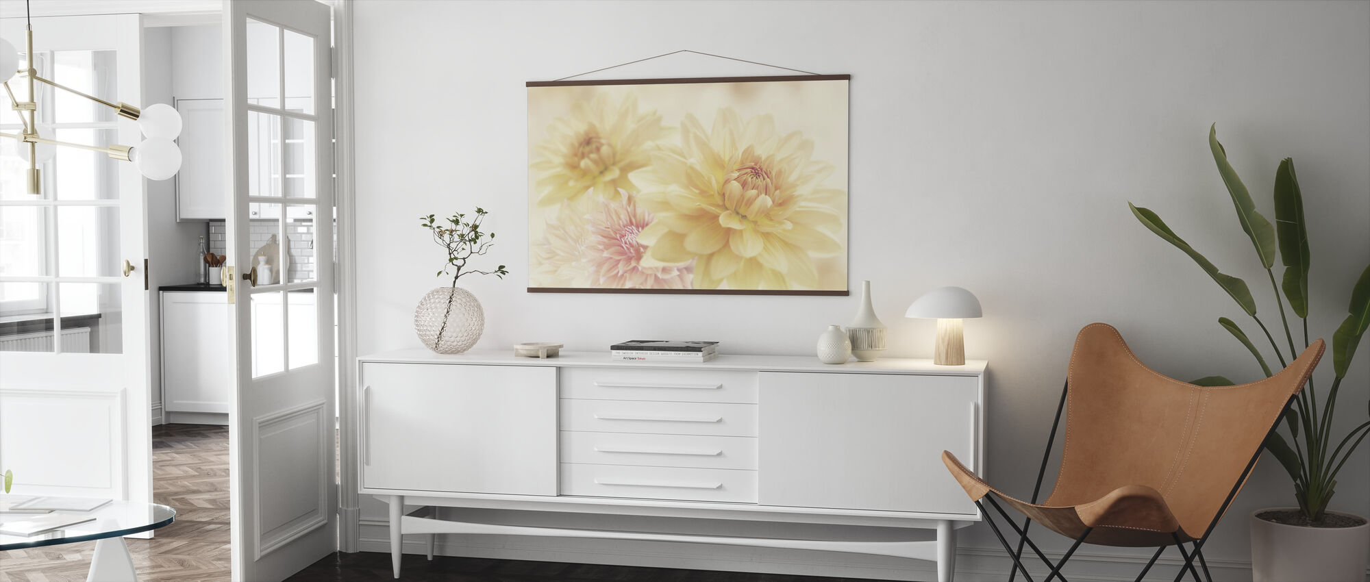 Fair Dahlias - Poster - Living Room