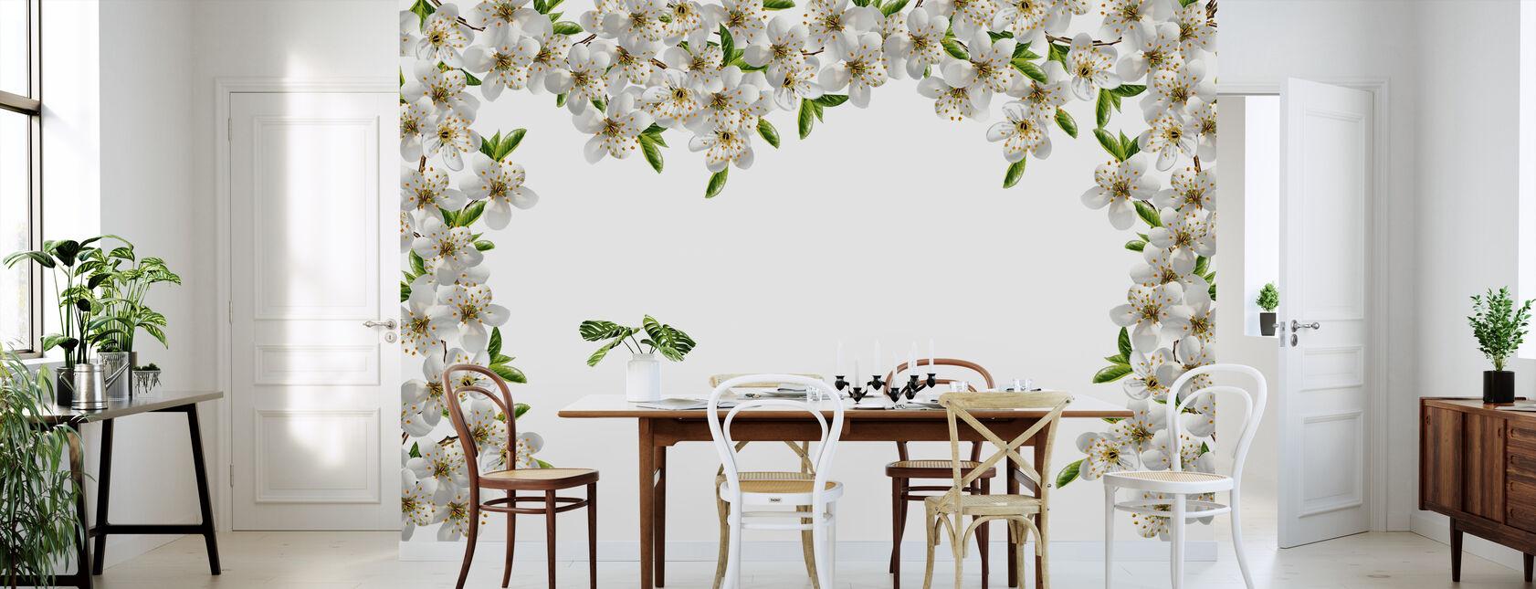 Frame of Flowers - Wallpaper - Kitchen