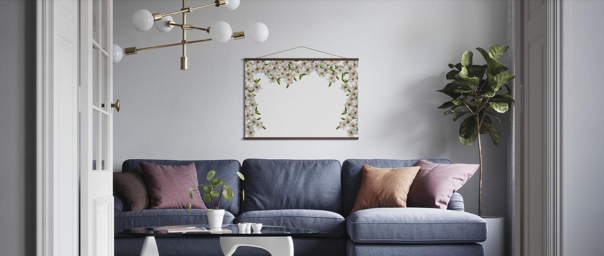 Ramar av blommor - Poster - Vardagsrum