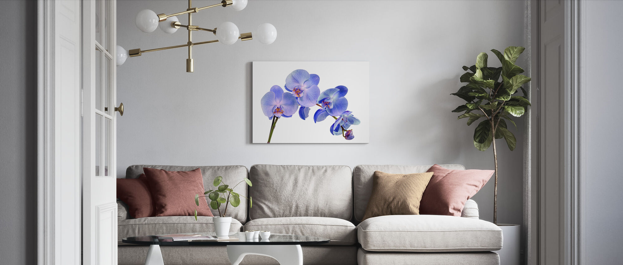 Orchid Twig - Canvas print - Living Room
