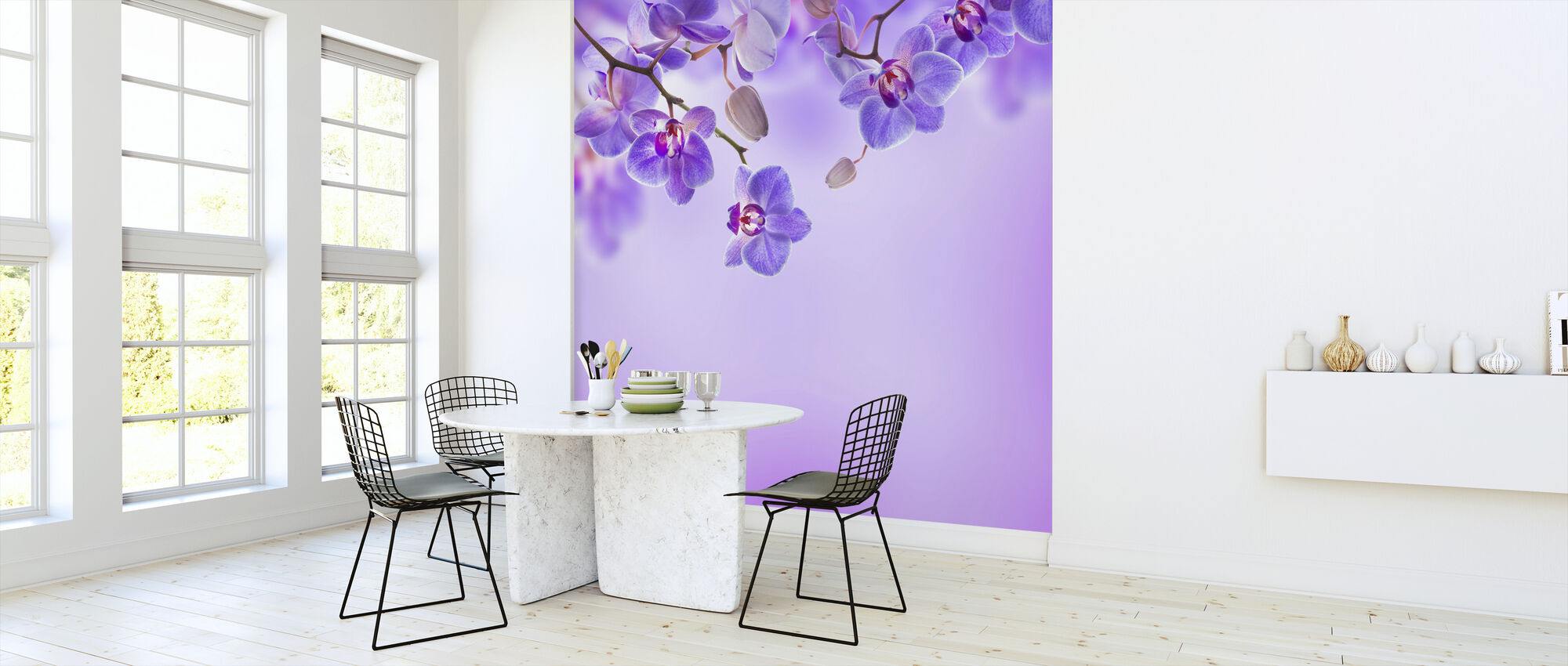 Soft Purple Orchids - Wallpaper - Kitchen
