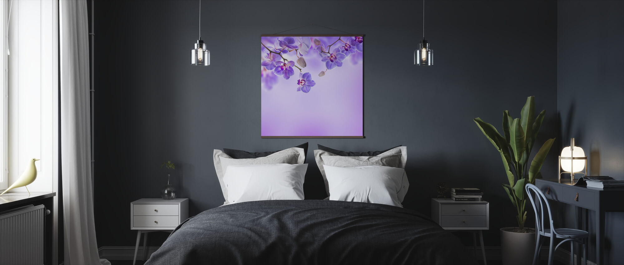 Soft Purple Orchids - Poster - Bedroom