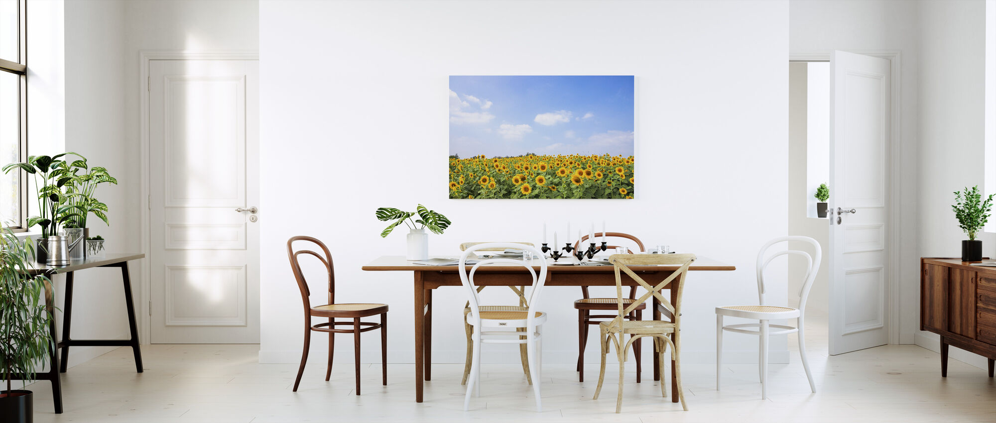 Soft Sunflowers - Canvas print - Kitchen