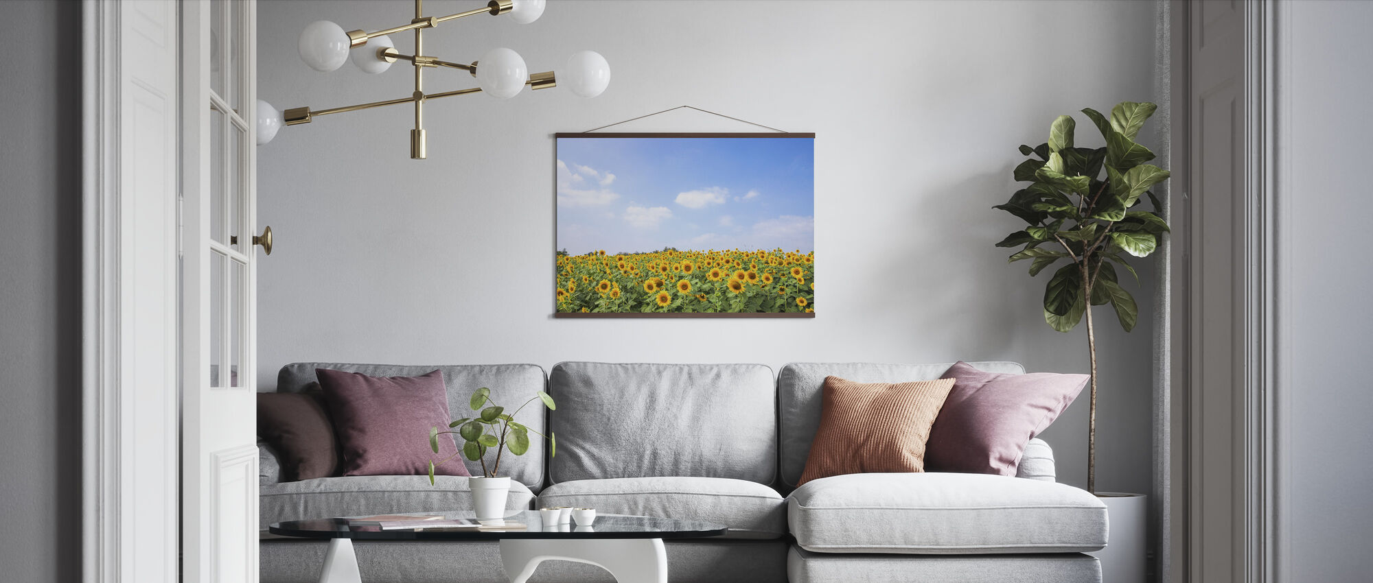 Soft Sunflowers - Poster - Living Room