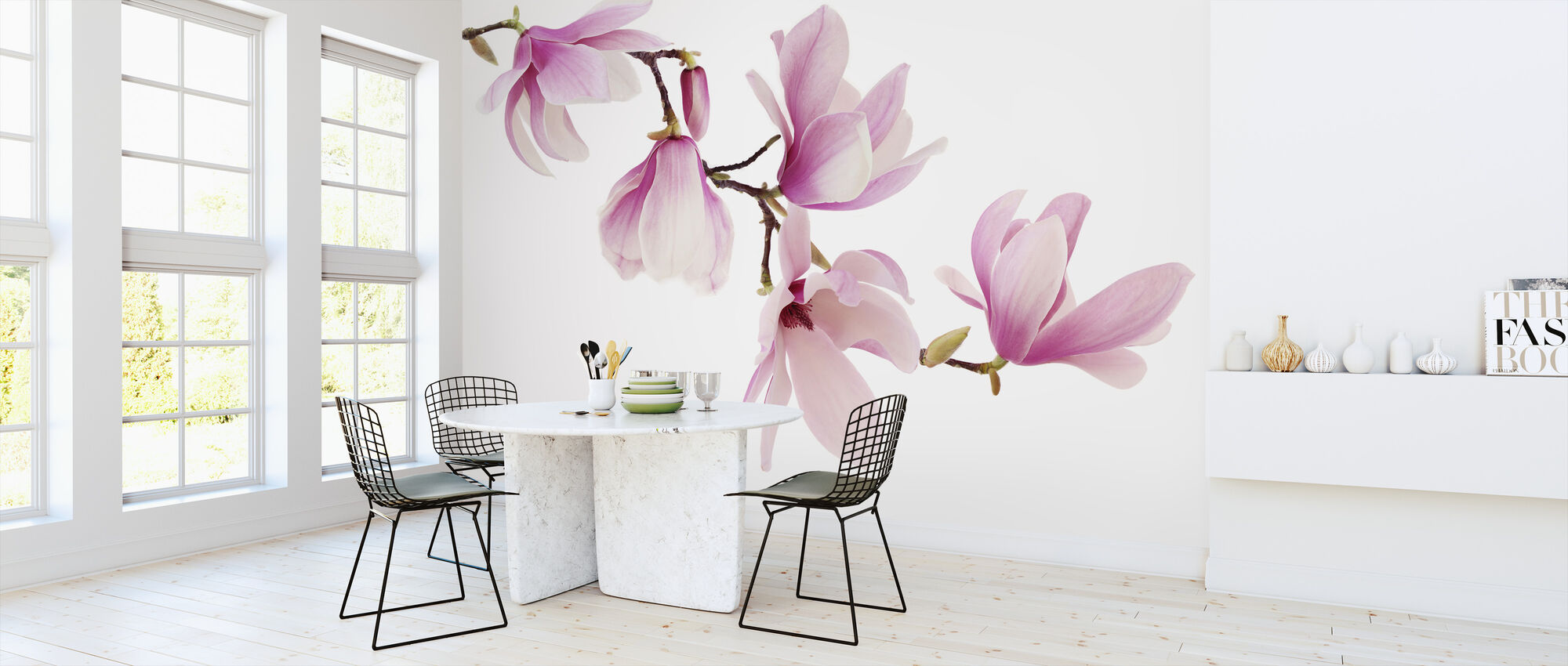 Spring Magnolia - Wallpaper - Kitchen