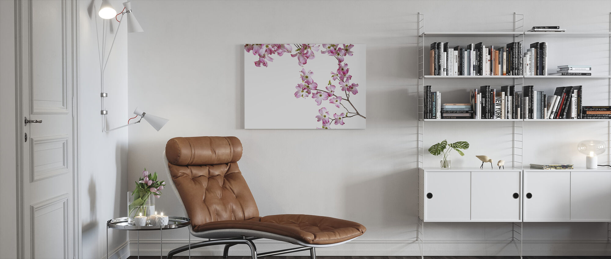 Stribet Orkidé - Billede på lærred - Stue