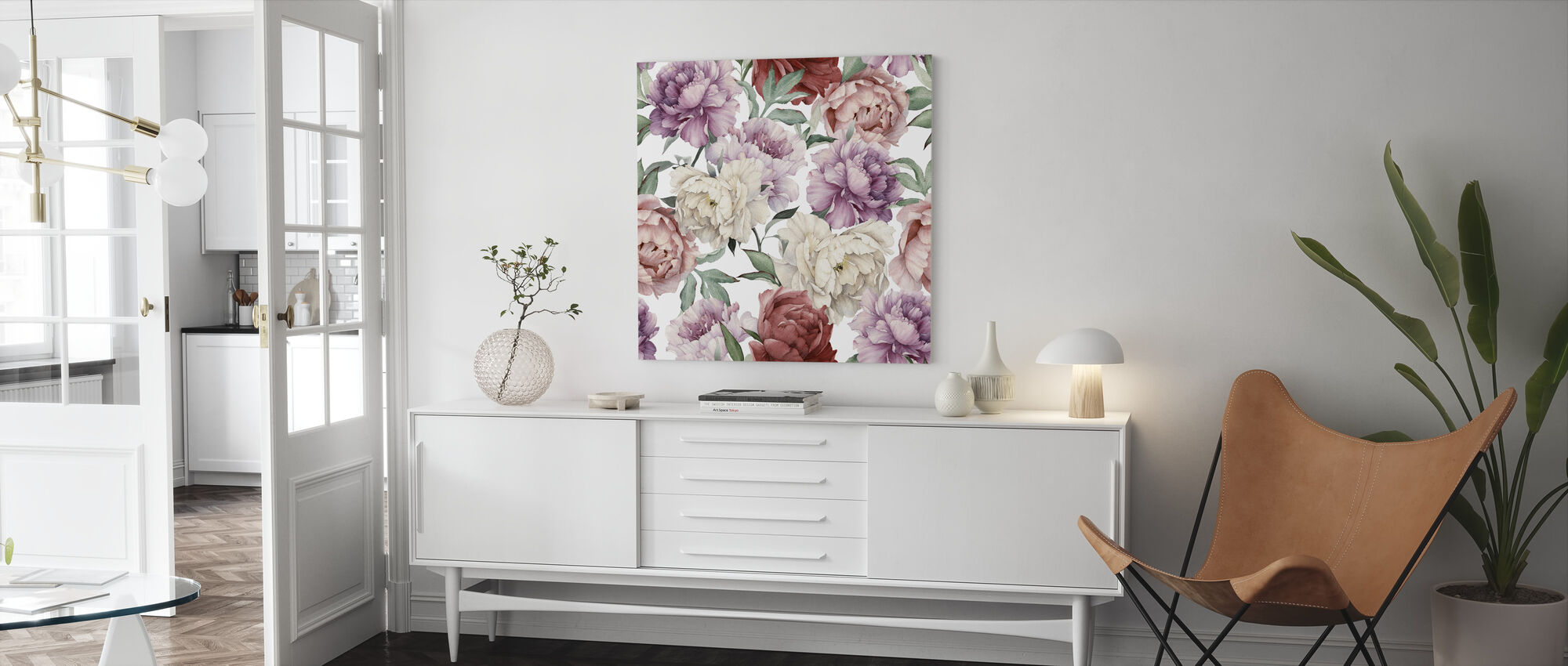Sweet Peonies - Canvas print - Living Room
