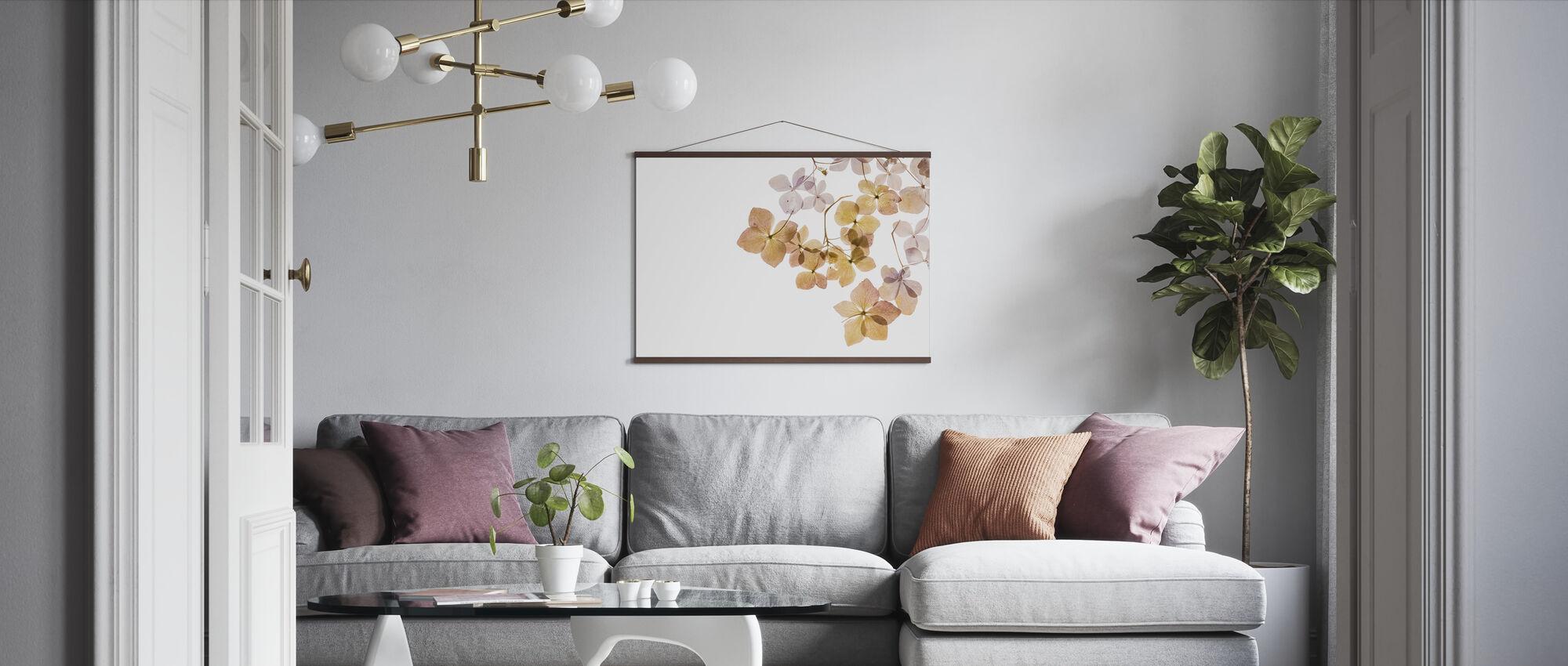 Transparent Flowers - Poster - Living Room