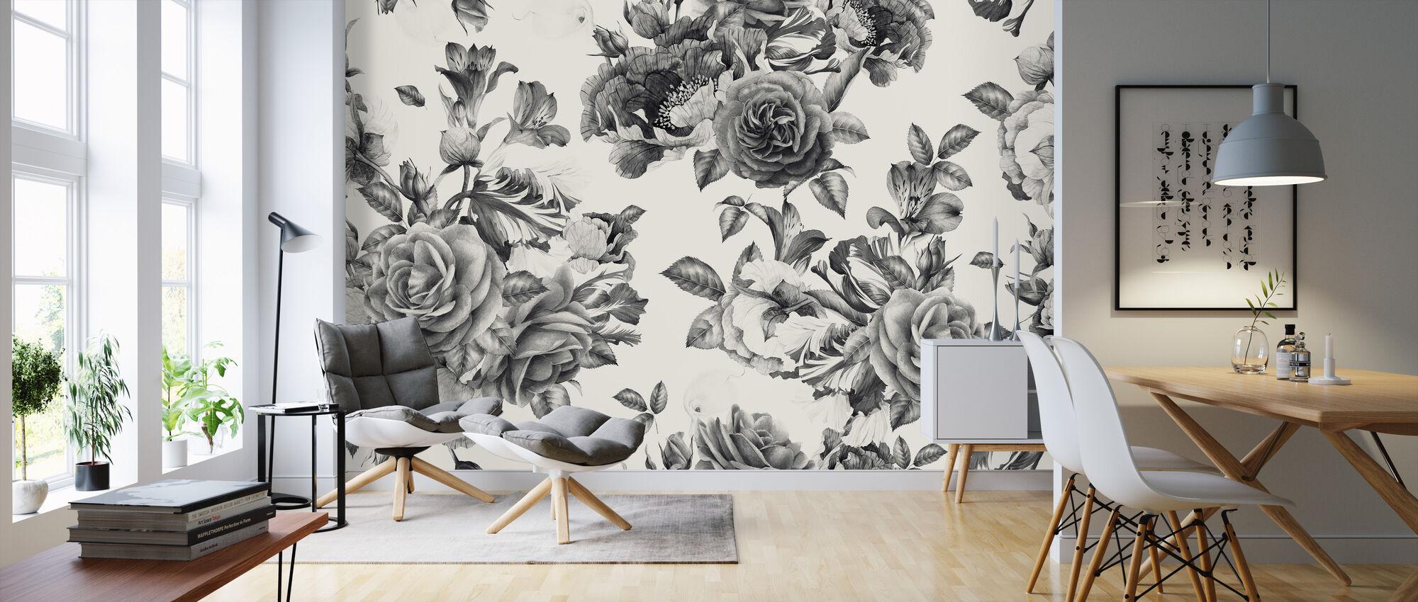 Twilight Roses - Wallpaper - Living Room