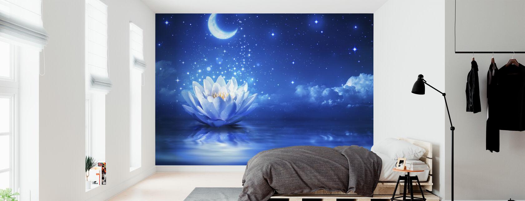 Lumilja Kuu - Tapetti - Makuuhuone