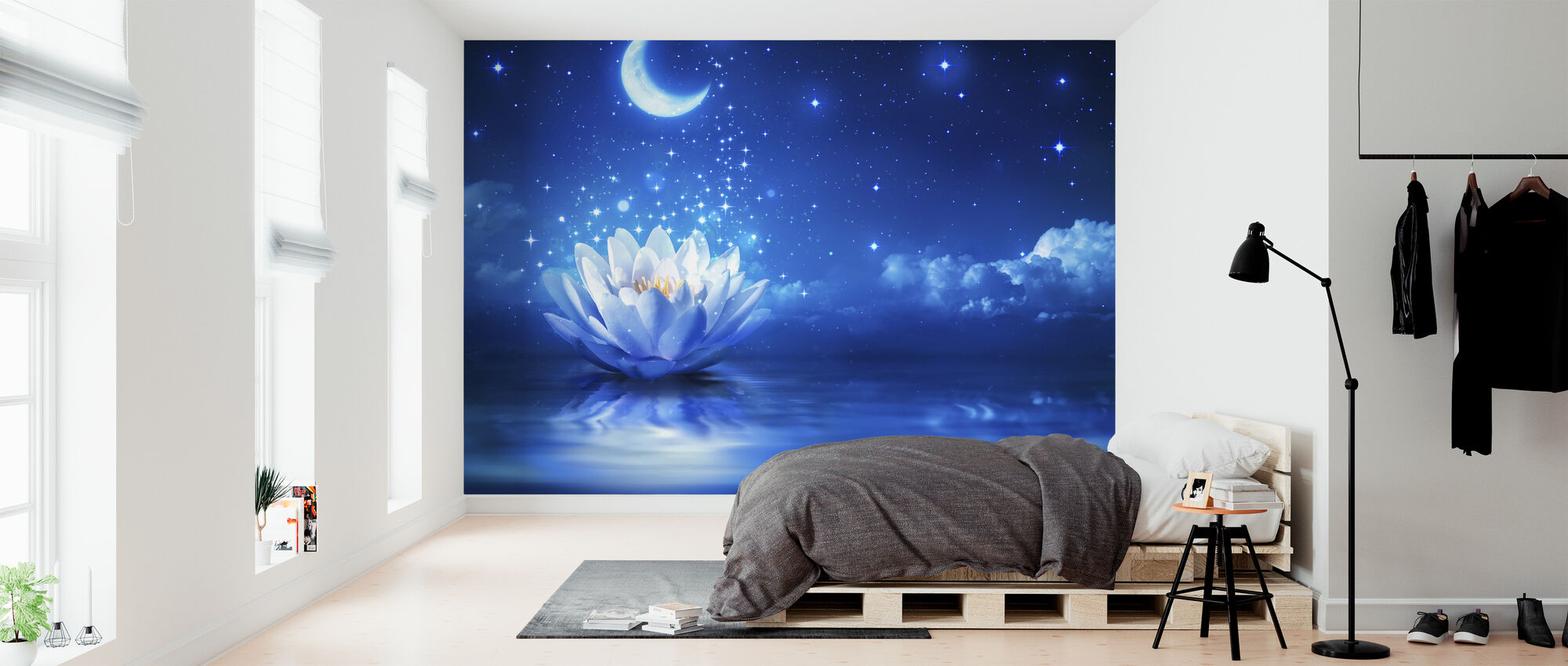 Waterlily Moon - Wallpaper - Bedroom