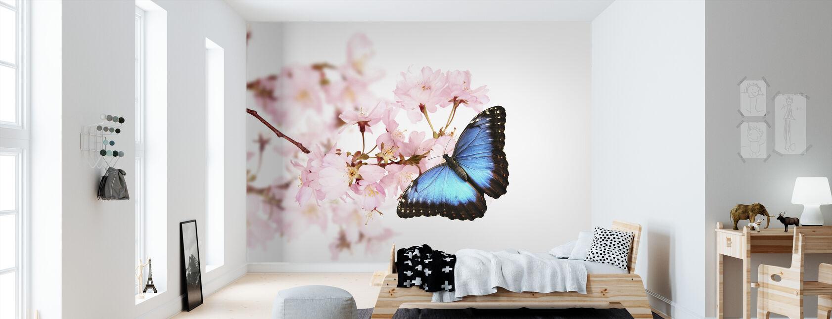 Schmetterling Kirschblüten - Tapete - Kinderzimmer