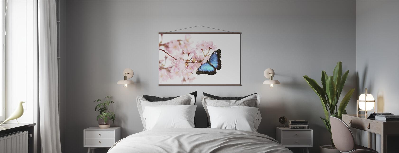 Fjäril Körsbärsblommar - Poster - Sovrum