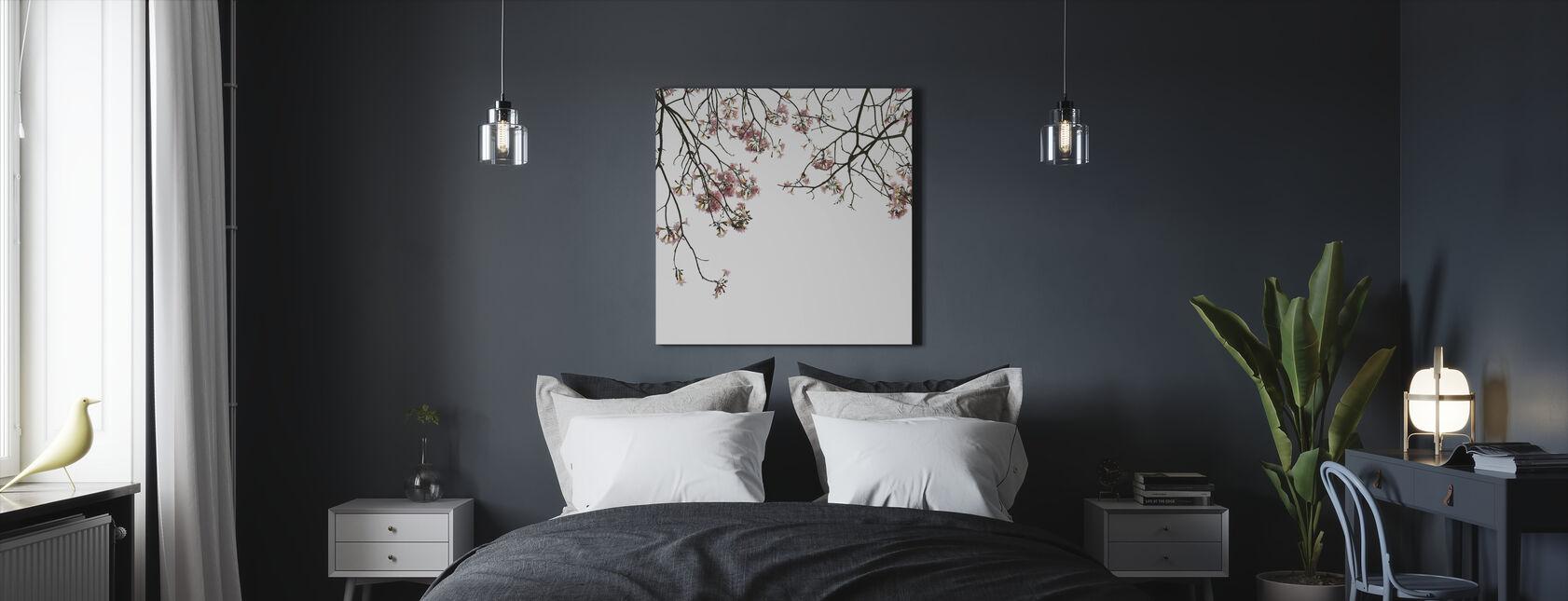 Kirsebær grene - Billede på lærred - Soveværelse