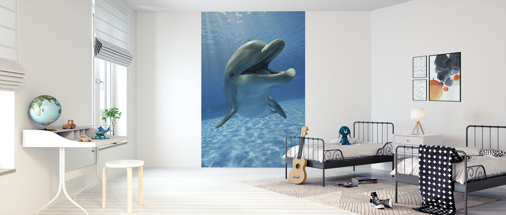 Encounter with Dolphin - Wallpaper - Kids Room