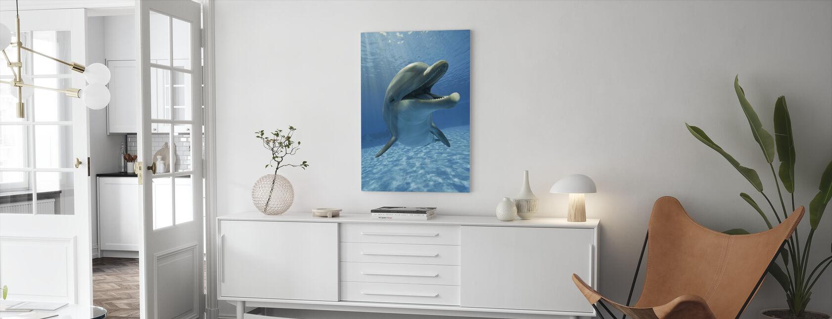 Begegnung mit Delphin - Leinwandbild - Wohnzimmer