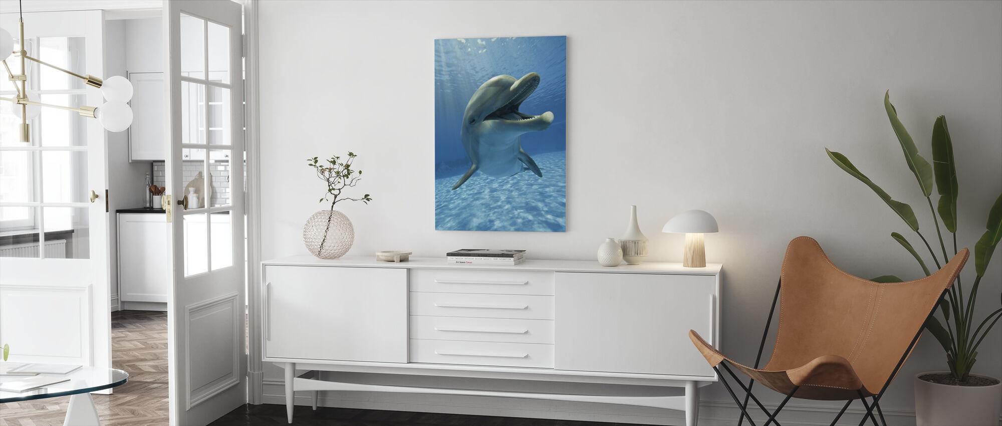Ontmoeting met Dolfijn - Canvas print - Woonkamer