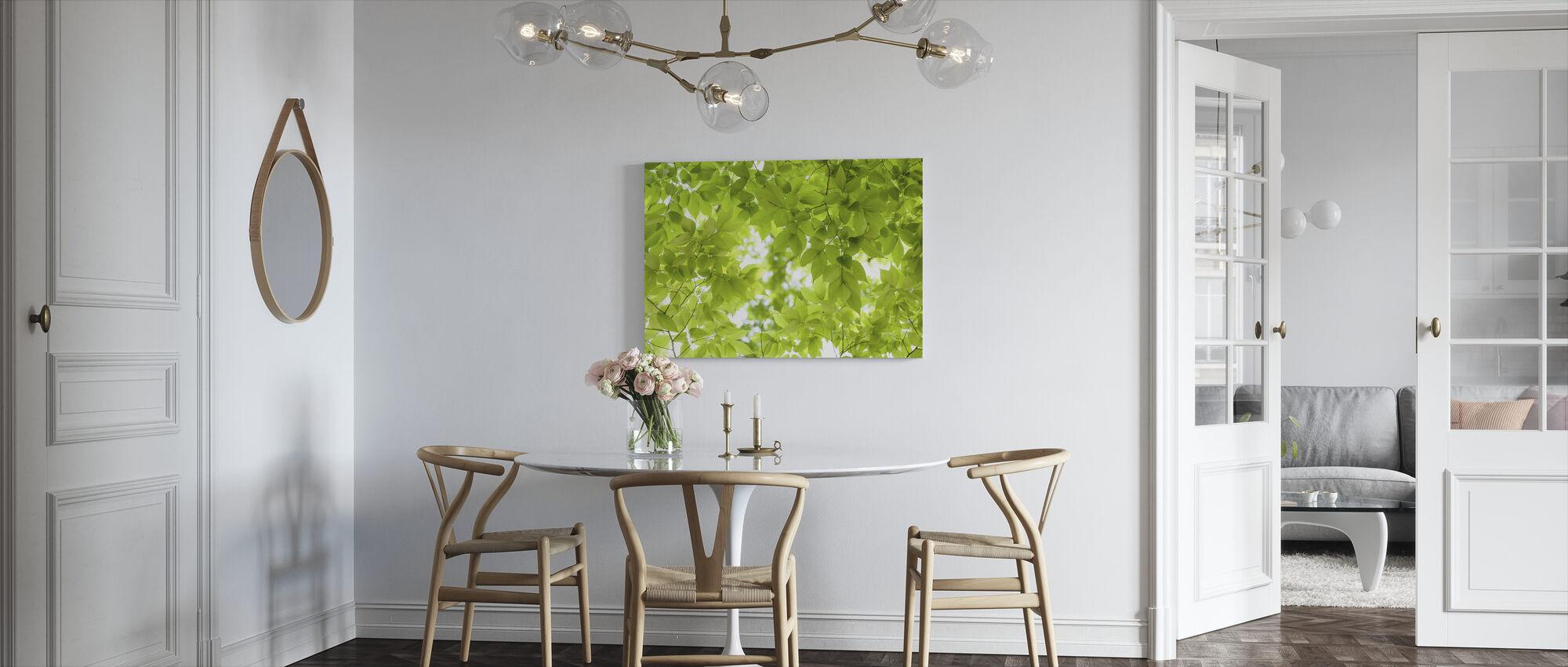 Groene bladeren achtergrond - Canvas print - Keuken