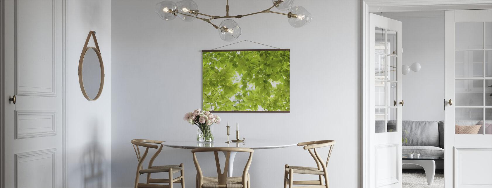 Groene bladeren achtergrond - Poster - Keuken