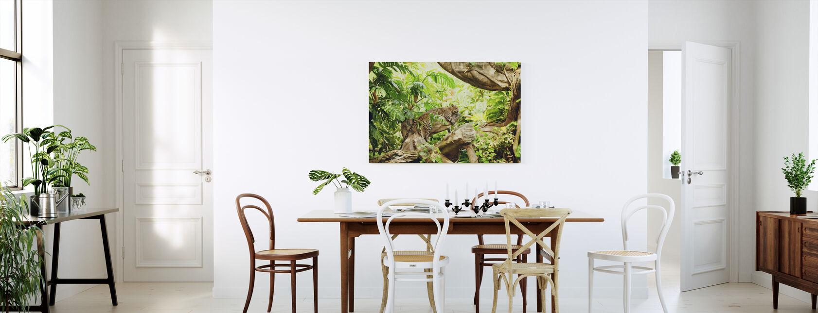 Leopard Dozing i djungeln - Canvastavla - Kök