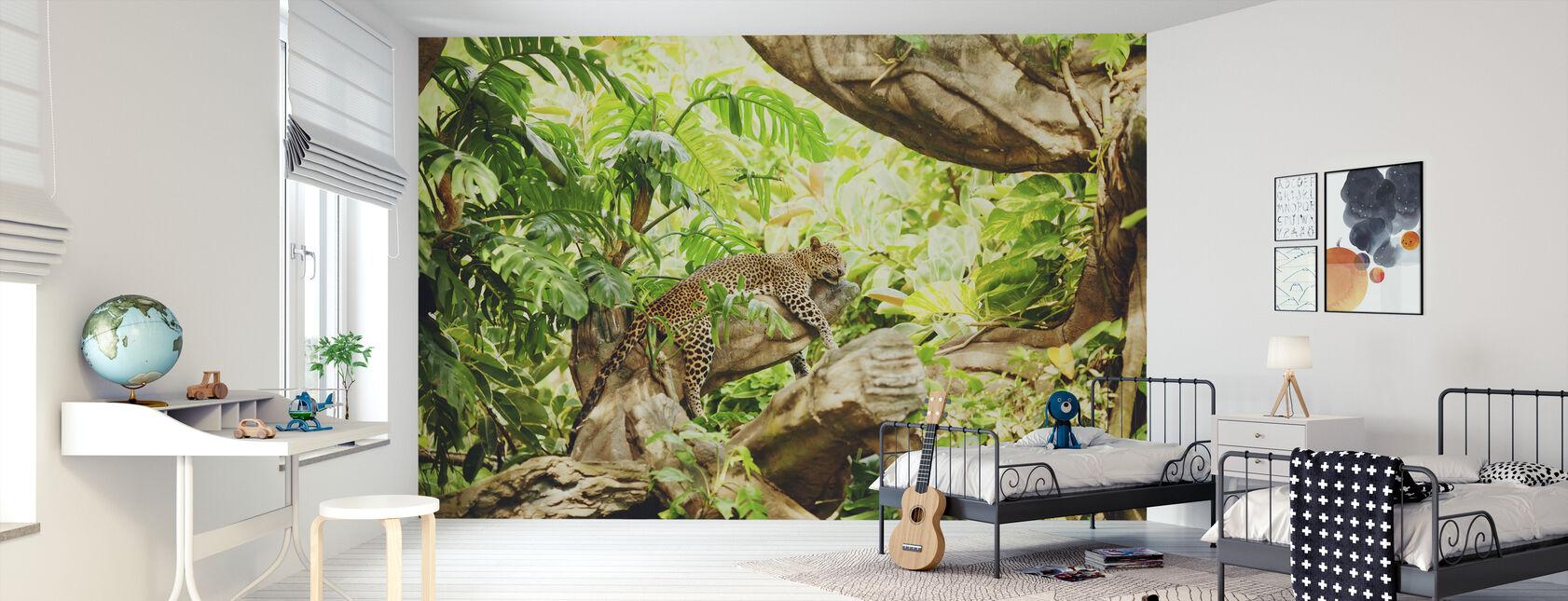 Leopardi Dozing viidakossa - Tapetti - Lastenhuone