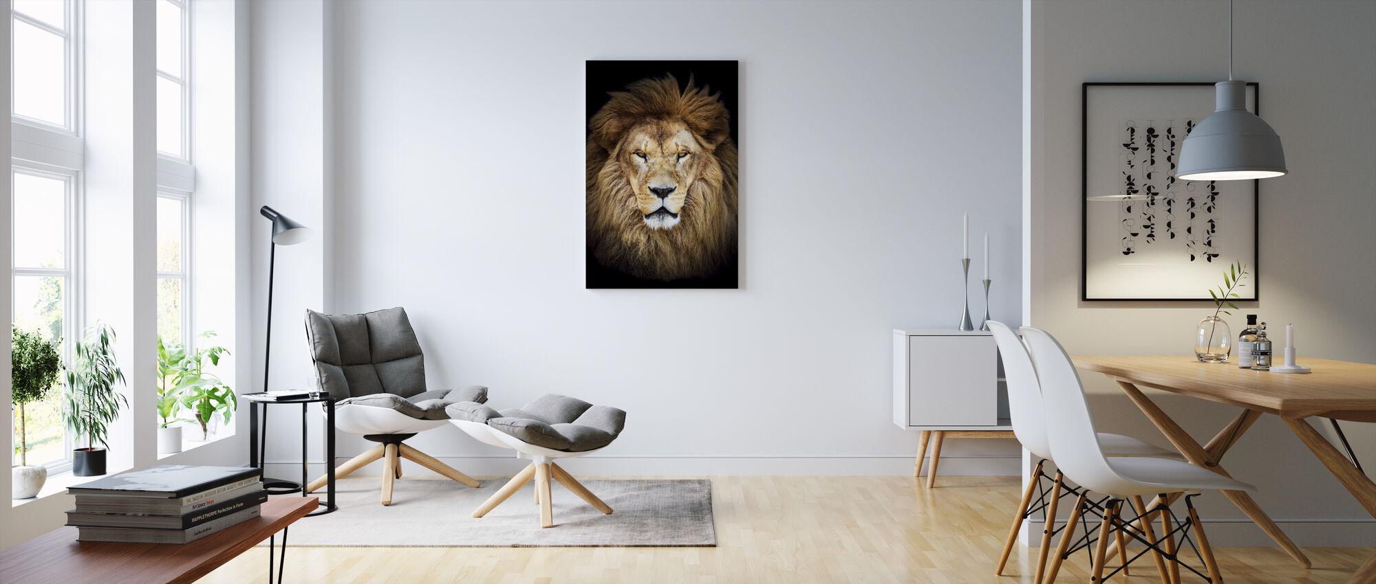Majestic Lion - Canvas print - Living Room