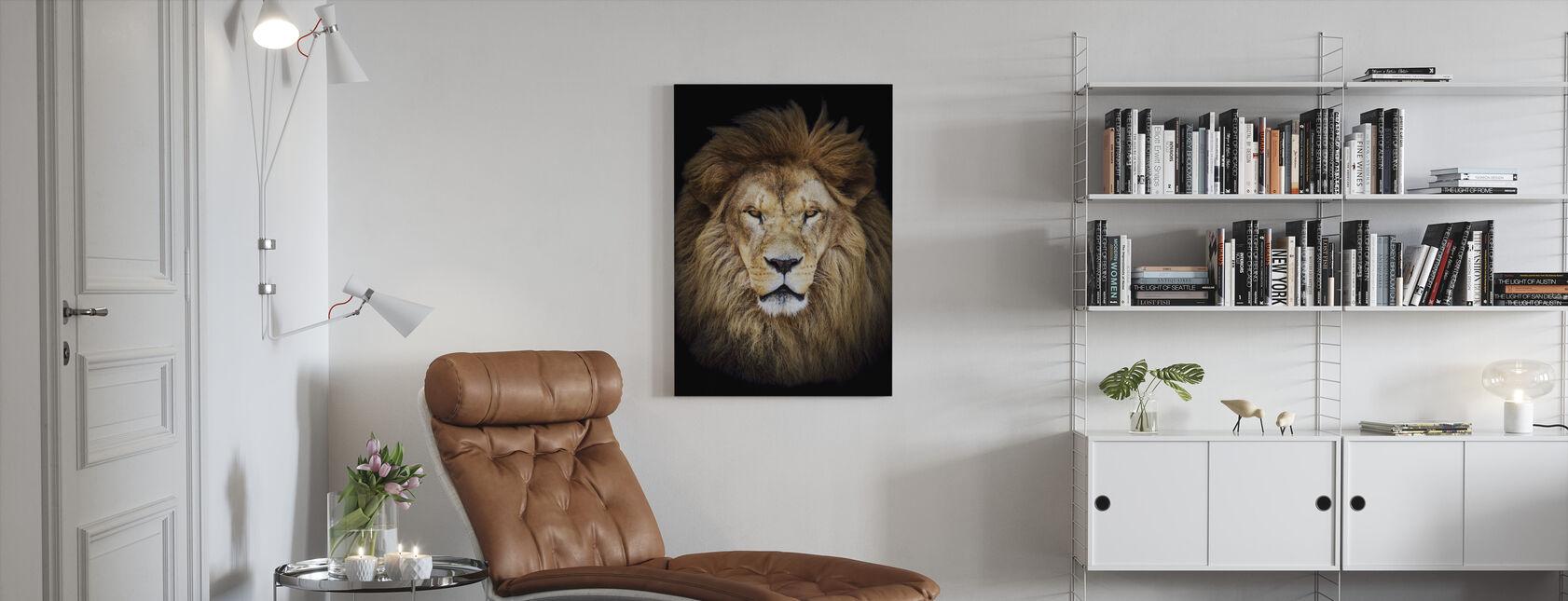 Majestætiske løve - Billede på lærred - Stue