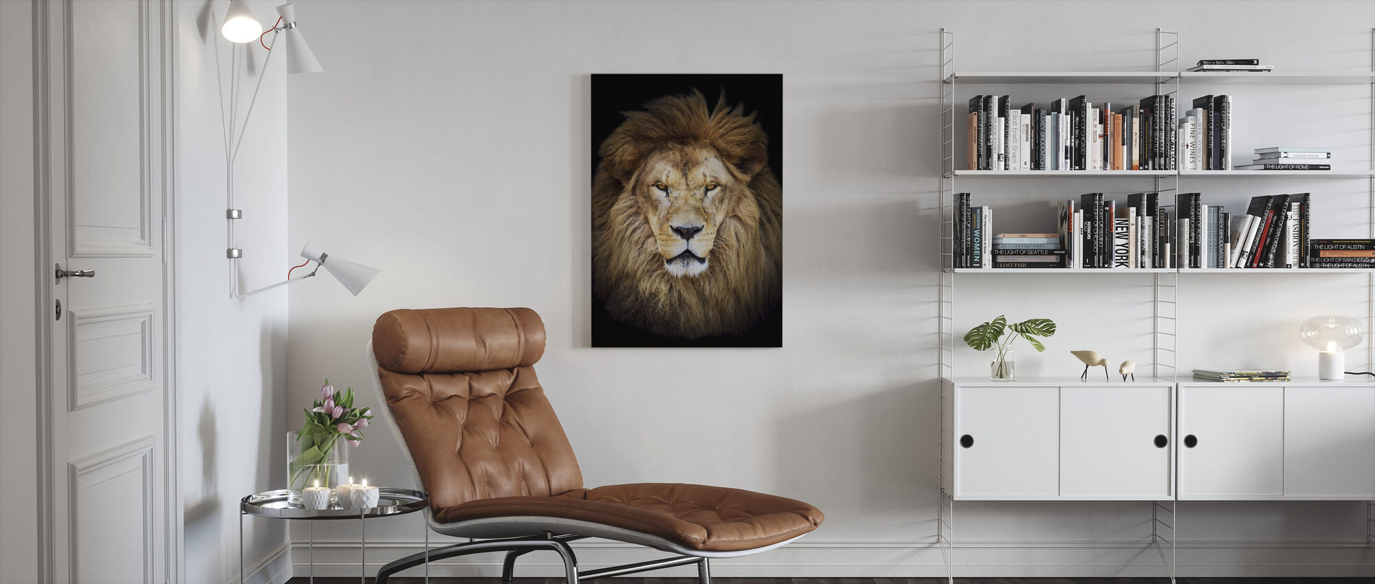 Majestic Lion - Canvas print - Living Room