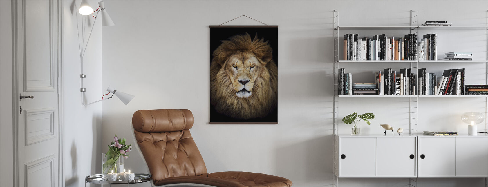 Majestätisk lejon - Poster - Vardagsrum