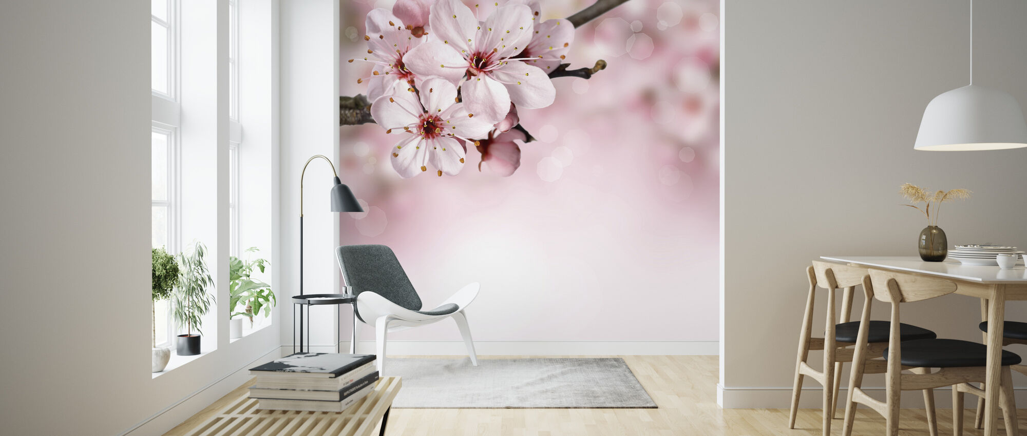 Spring Border Cherry Blossom Made To Measure Wall Mural Photowall