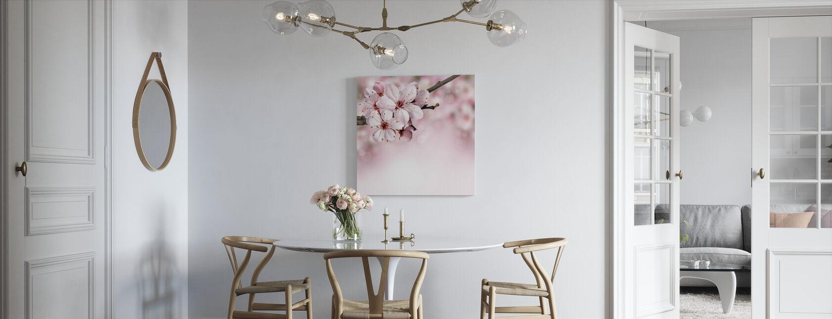 Lente grens kersenbloesem - Canvas print - Keuken
