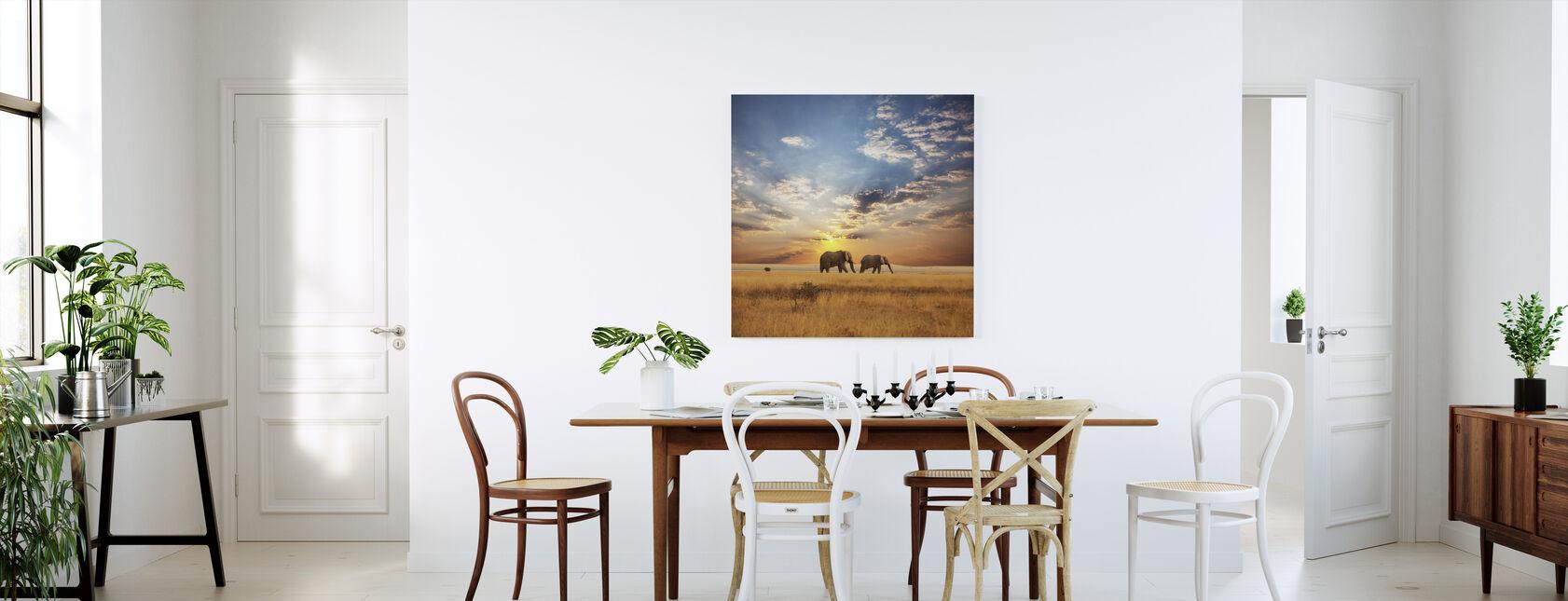 Savannah Zonsondergang - Canvas print - Keuken