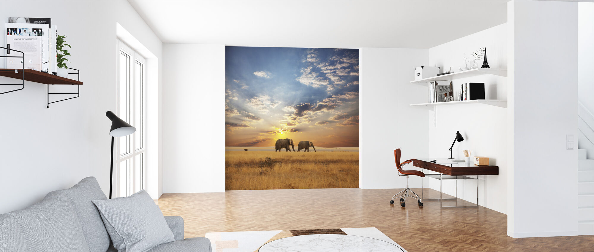 Savannah Sunset - Wallpaper - Office