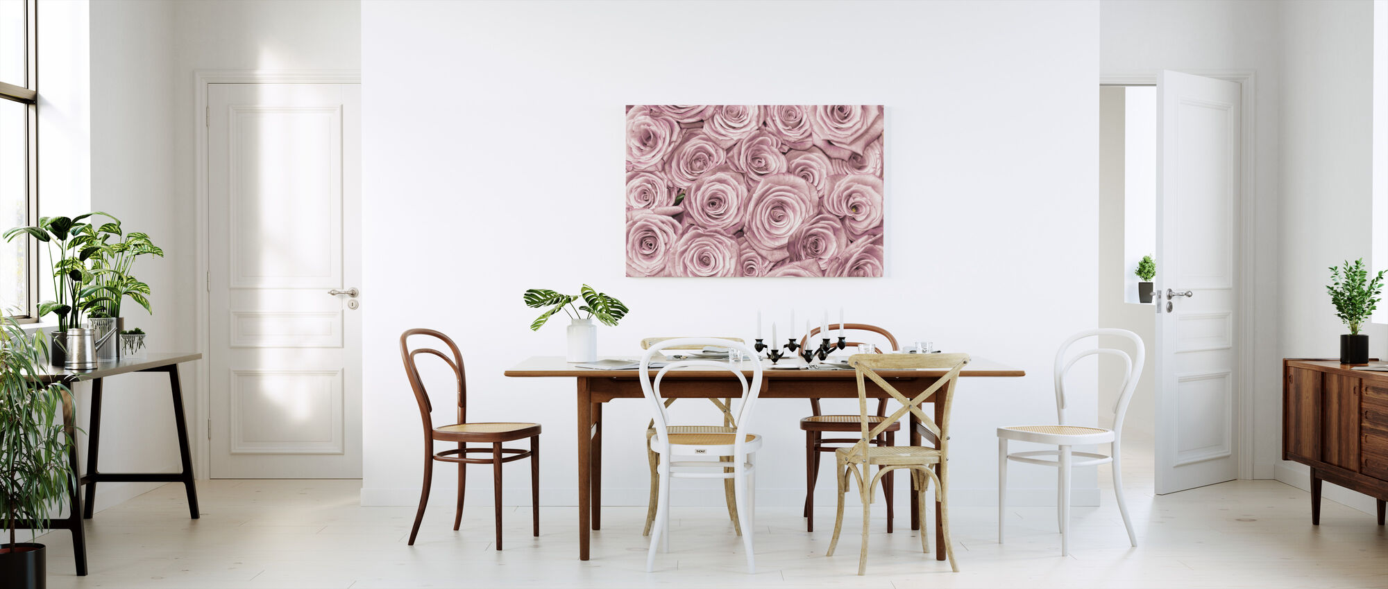 Wall of Roses - Canvas print - Kitchen