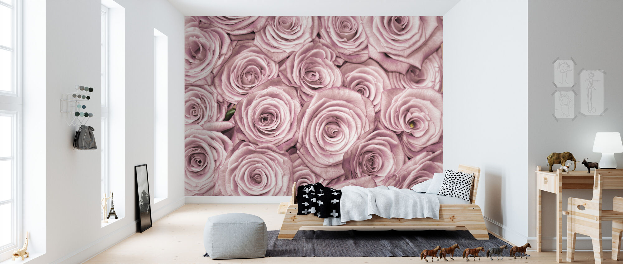 Wall of Roses - Wallpaper - Kids Room