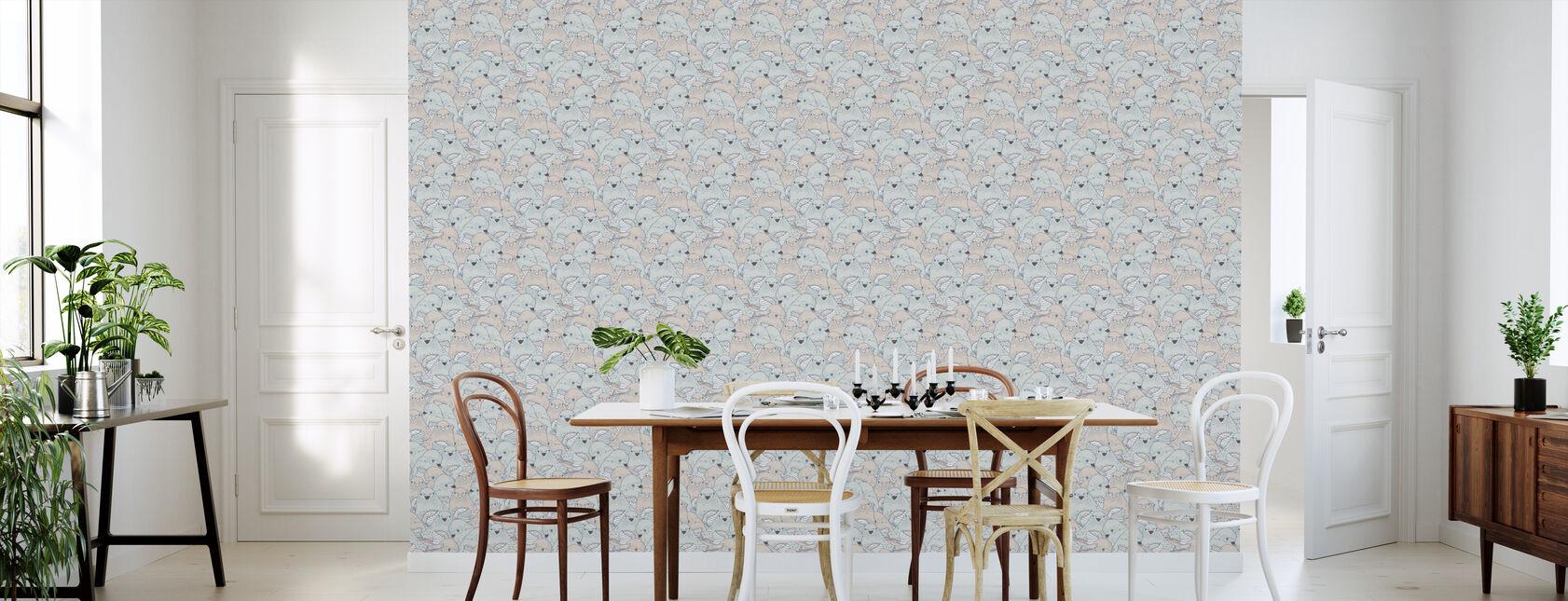 Lovebirds Velvet Sharp - Wallpaper - Kitchen