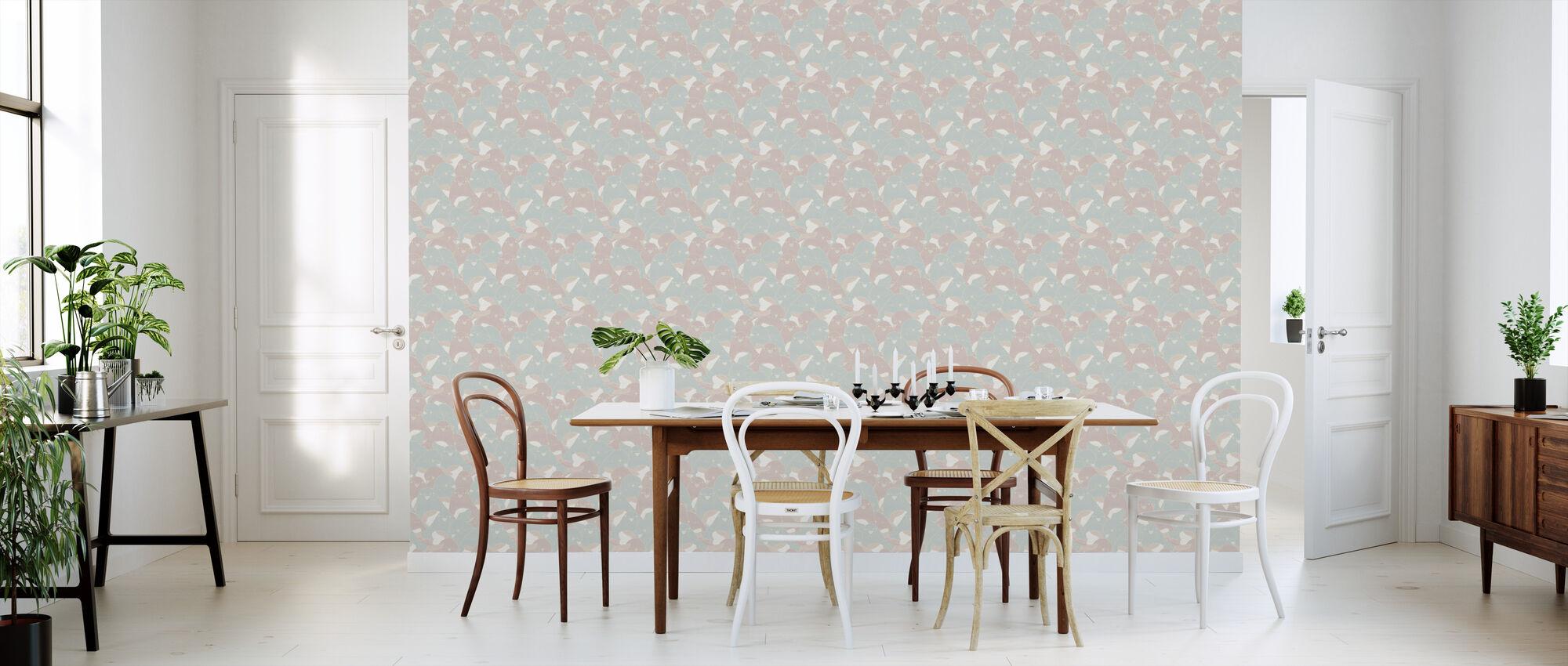 Lovebirds Velvet - Wallpaper - Kitchen