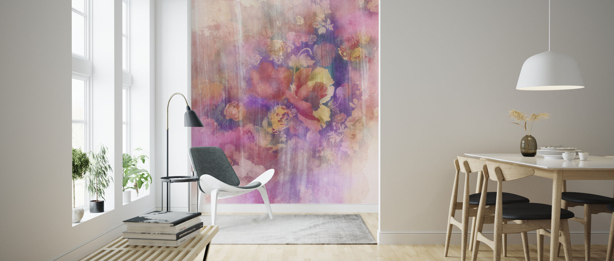 Smokey Floral April - Behang - Woonkamer