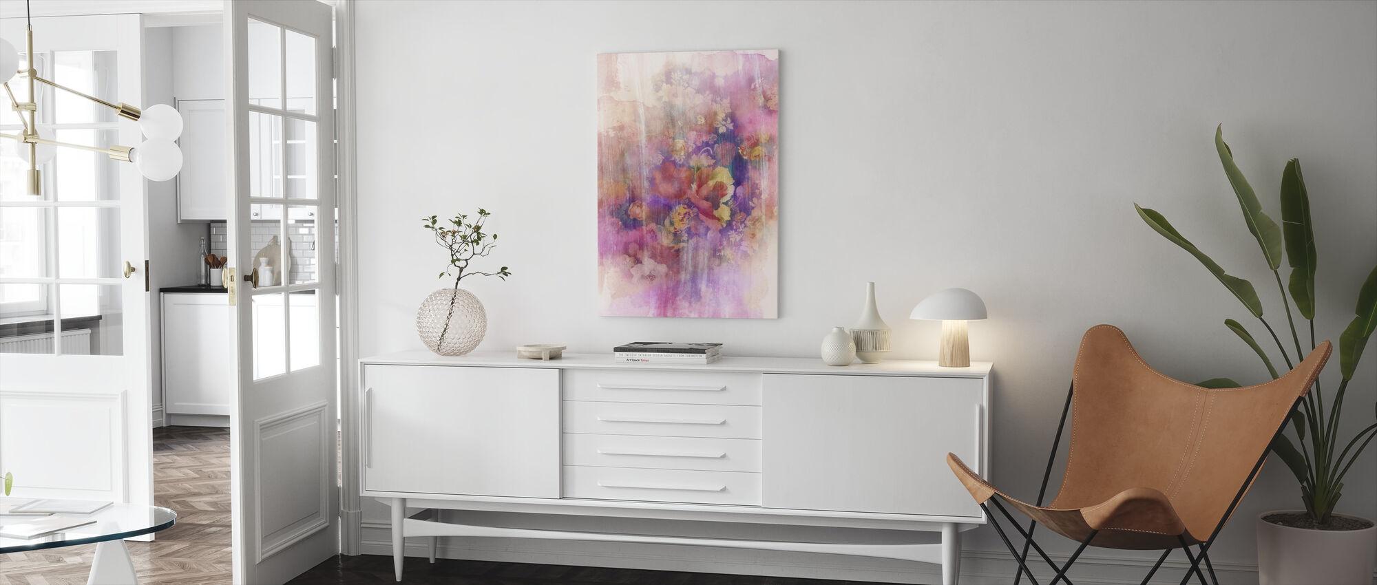 Smokey Floral April - Canvas print - Living Room