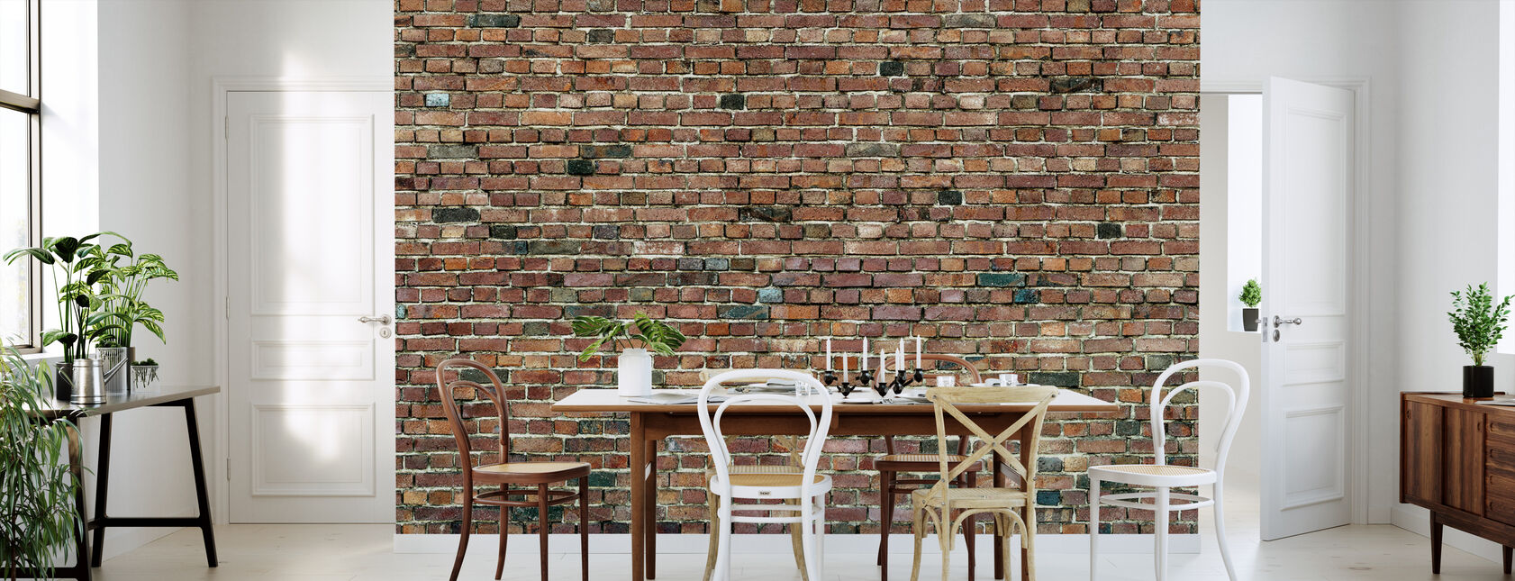Stockholm Brick Wall - Wallpaper - Kitchen