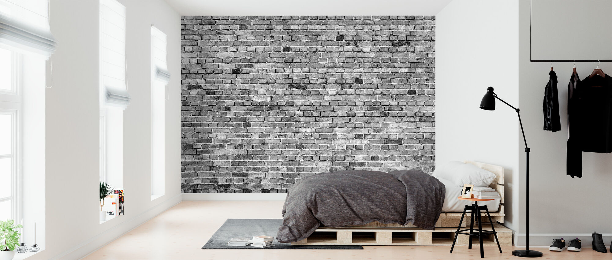 Stockholm Brick Wall - Black and White – decorate with a ...