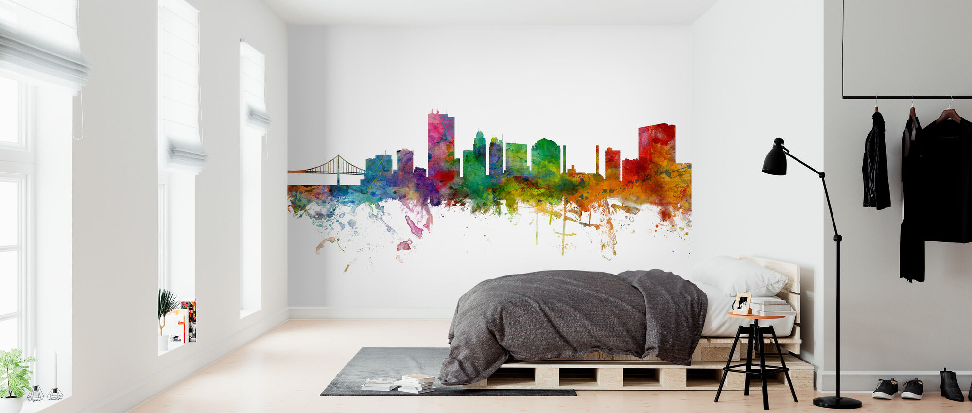 Toledo Ohio Skyline - Behang - Slaapkamer