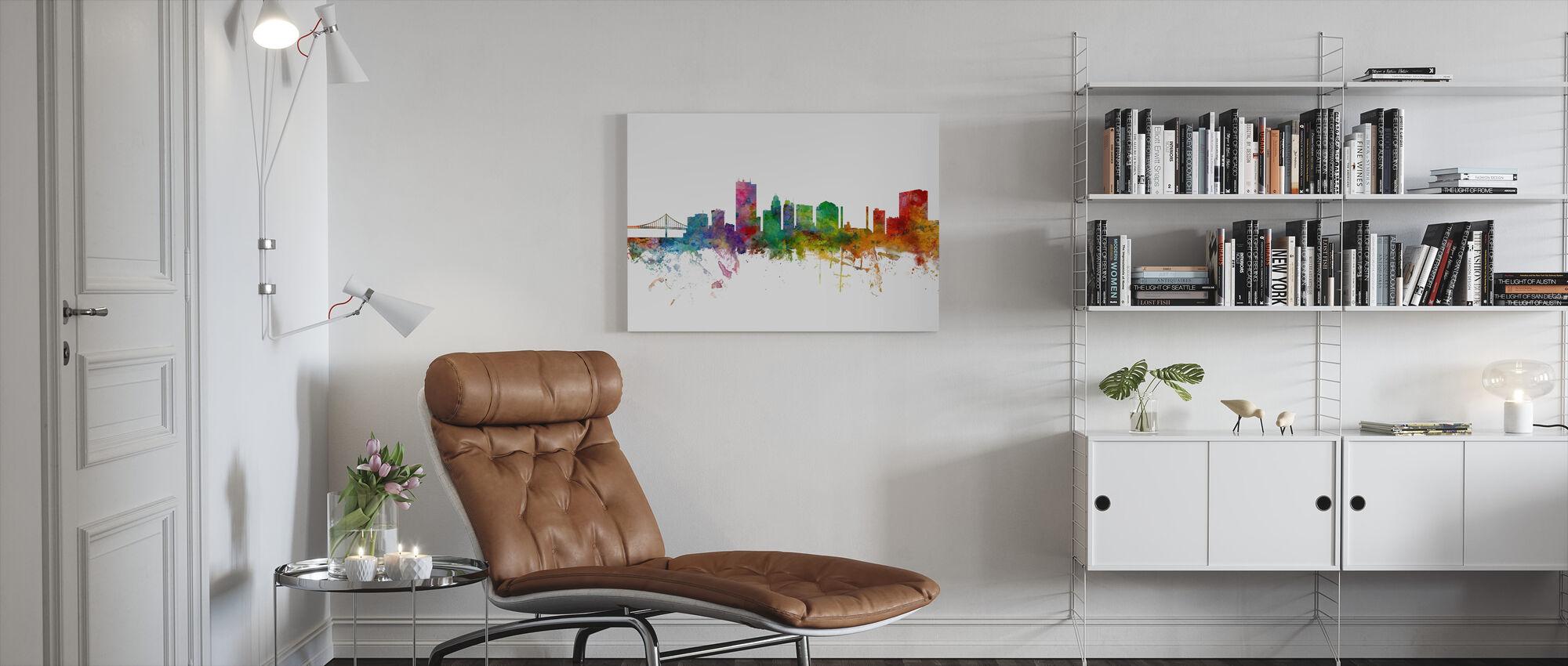 Toledo Ohio Skyline - Canvas print - Woonkamer