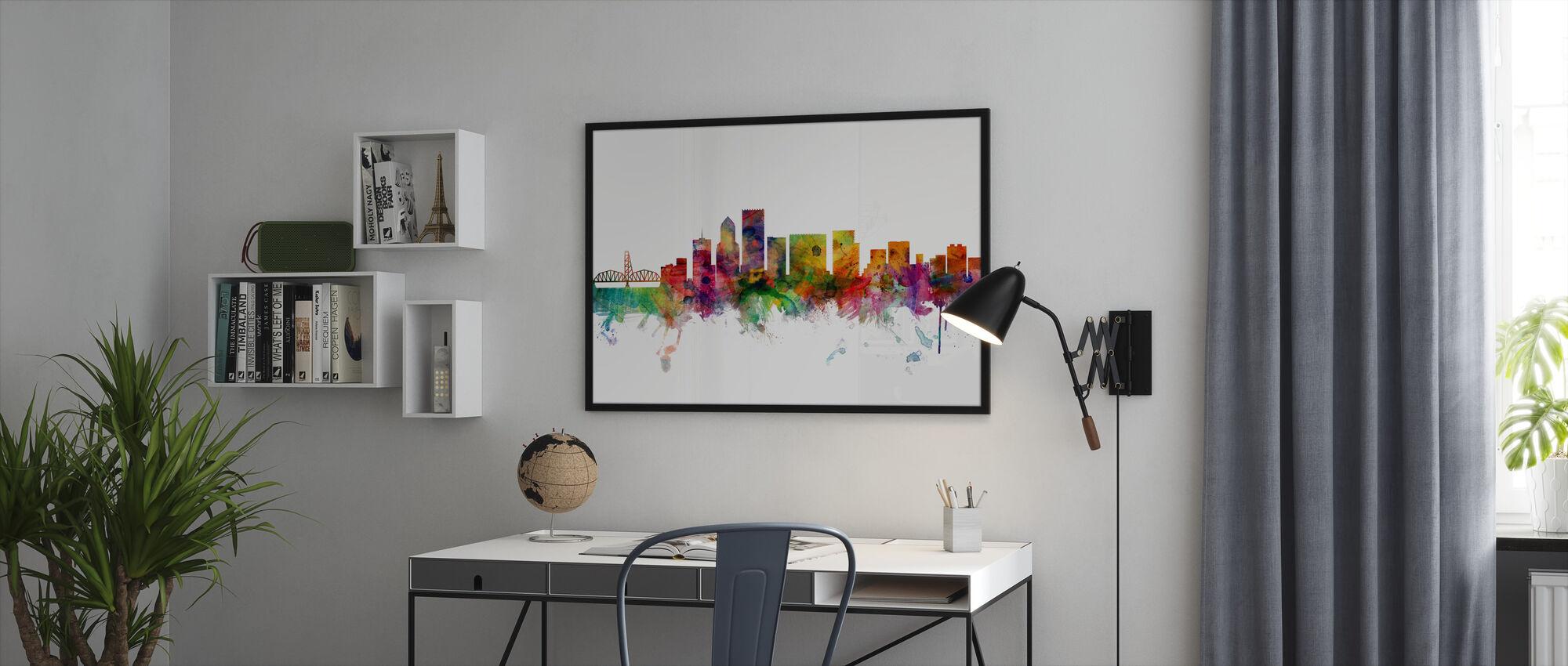 Portland Oregon Skyline - Framed print - Office