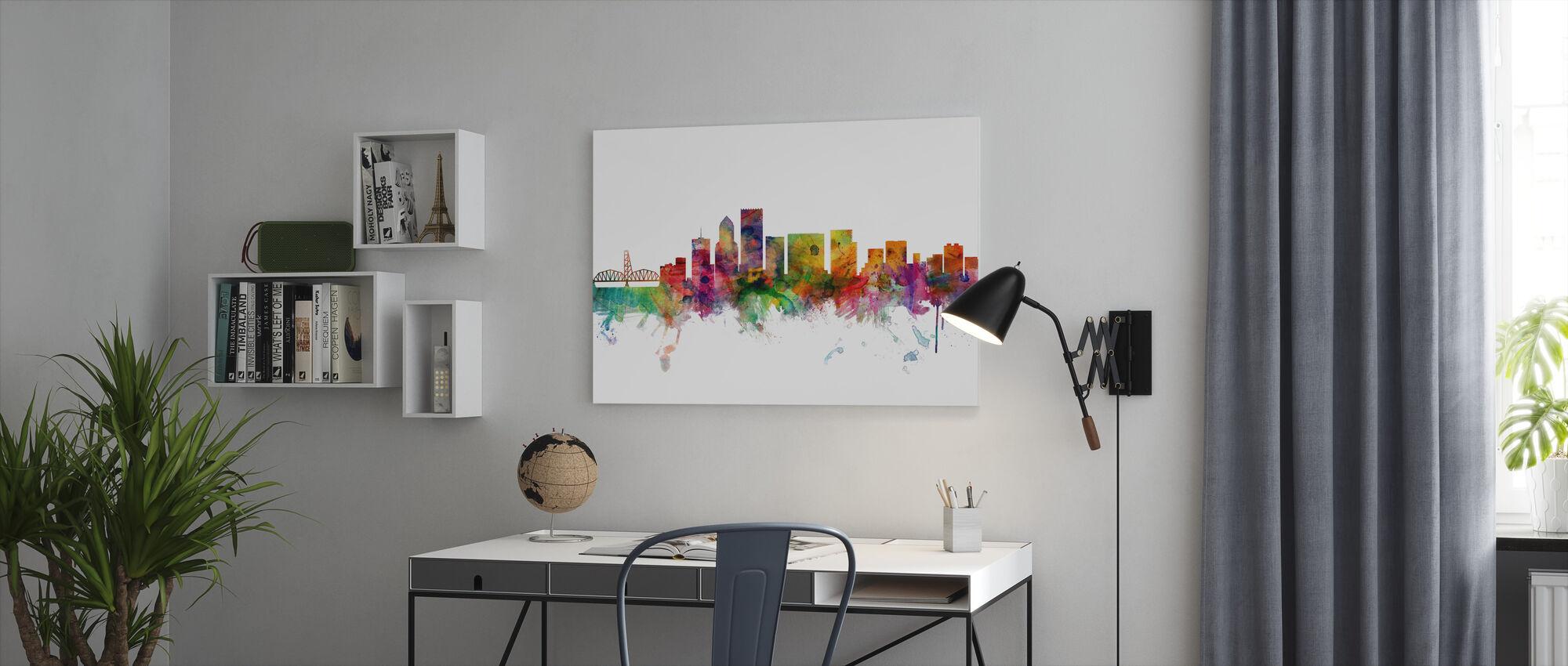 Portland Oregon Skyline - Lerretsbilde - Kontor