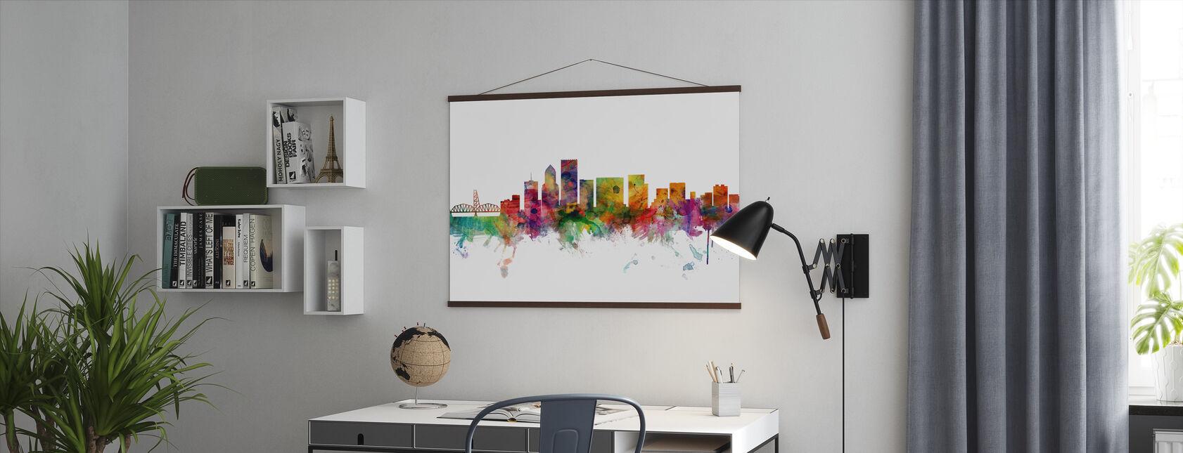 Portland Oregon Skyline - Plakat - Kontor