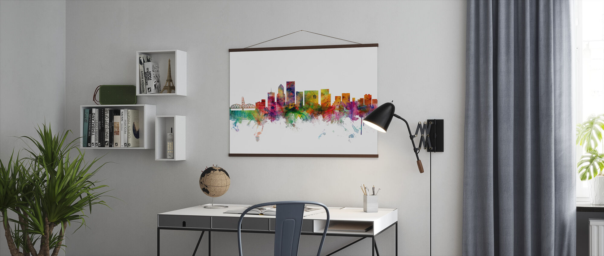 Portland Oregon Skyline - Poster - Office