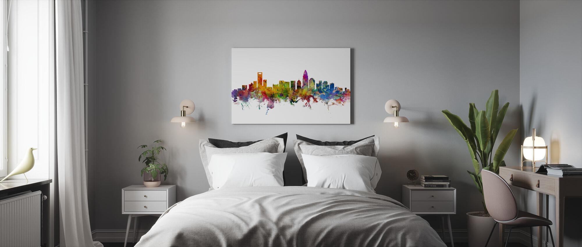 Charlotte North Carolina Skyline - Canvas print - Bedroom